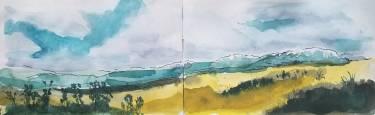 Sketchbook Spread - Colorado (Watercolor)